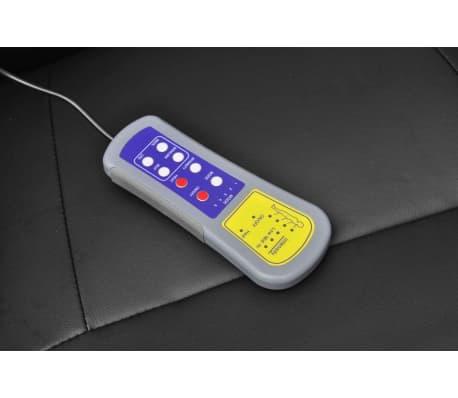 vidaXL Masažinis krėslas su pakoja, juodas, dirbtinė oda[4/8]