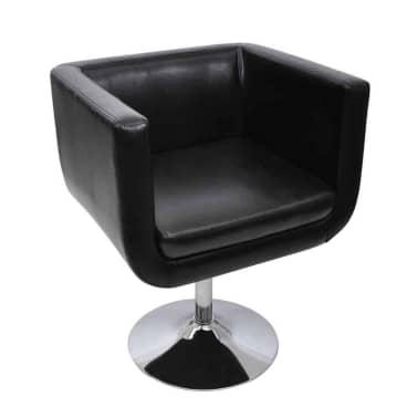 vidaXL Baro kėdė, dirbtinė oda, juoda[2/4]