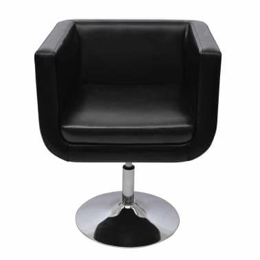 vidaXL Baro kėdė, dirbtinė oda, juoda[3/4]