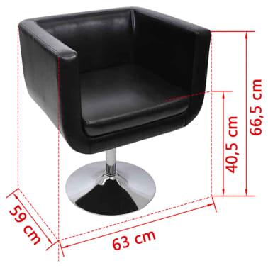 vidaXL Baro kėdė, dirbtinė oda, juoda[4/4]