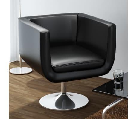 vidaXL Baro kėdė, dirbtinė oda, juoda[1/4]