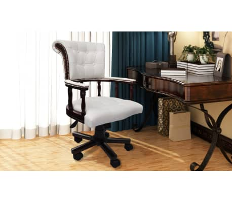 Krzesło biurowe Fotel kapitański Chesterfield[3/6]