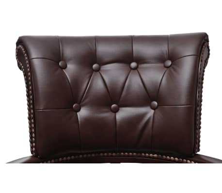 Chesterfield Captains Swivel Office Chair Brown[3/6]