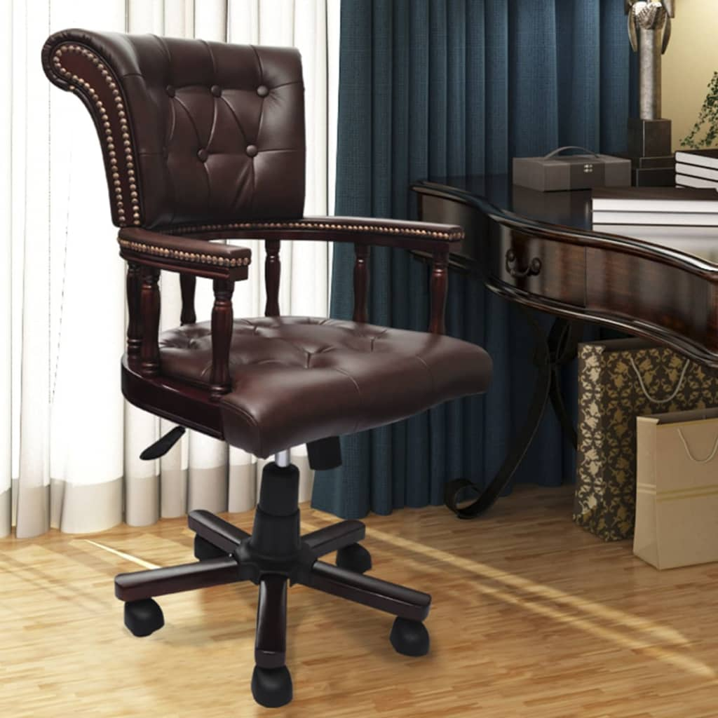 vida-xl-chesterfield-captains-swivel-office-chair-brown
