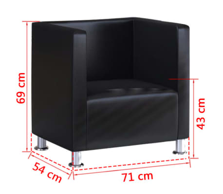vidaXL fekete műbőr fotel[5/5]