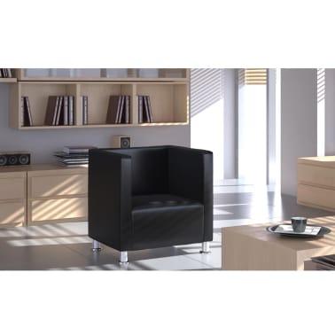 vidaXL fekete műbőr fotel [3/5]
