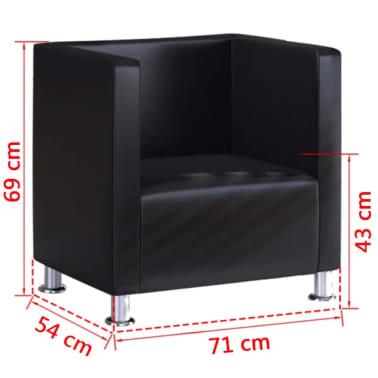 vidaXL fekete műbőr fotel [5/5]