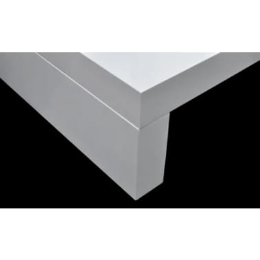 vidaXL Coffee Table with Glass Top White[5/6]