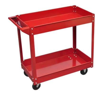 Chariot servante d'atelier charge 100 kg rouge[1/4]