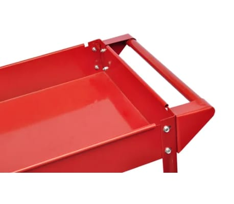 Workshop Tool Trolley 220 lbs. Red[3/4]