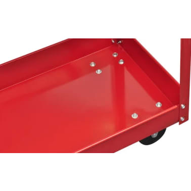 Workshop Tool Trolley 220 lbs. Red[4/4]