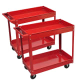 2 x Workshop Tool Trolley 220 lb 2 Shelves