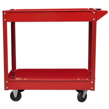 2 x Workshop Tool Trolley 100 kg 2 Shelves[2/4]