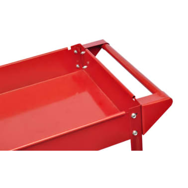 2 x Workshop Tool Trolley 100 kg 2 Shelves[3/4]