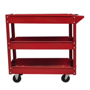 2 x Workshop Tool Trolley 220 lbs 3 Shelves[2/4]