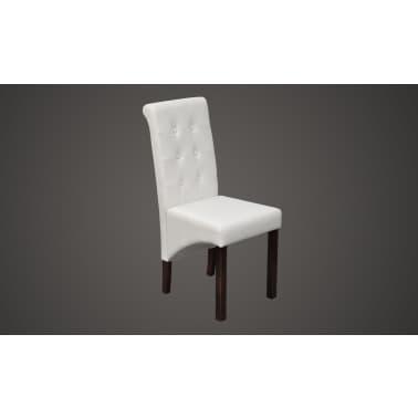 Valgomojo kėdės, 4 vnt., baltos[2/8]