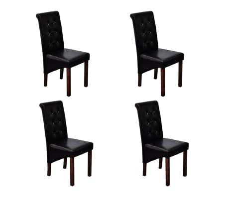 esszimmer st hle klassik 4 stk schwarz g nstig kaufen. Black Bedroom Furniture Sets. Home Design Ideas