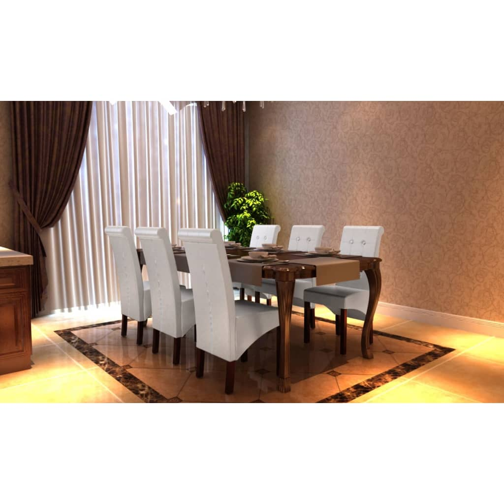 vidaXL Καρέκλες Τραπεζαρίας Μοντέρνες 6 τεμ. Λευκές