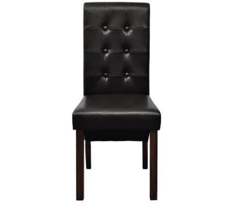 chaise antique simili cuir brun lot de 6. Black Bedroom Furniture Sets. Home Design Ideas
