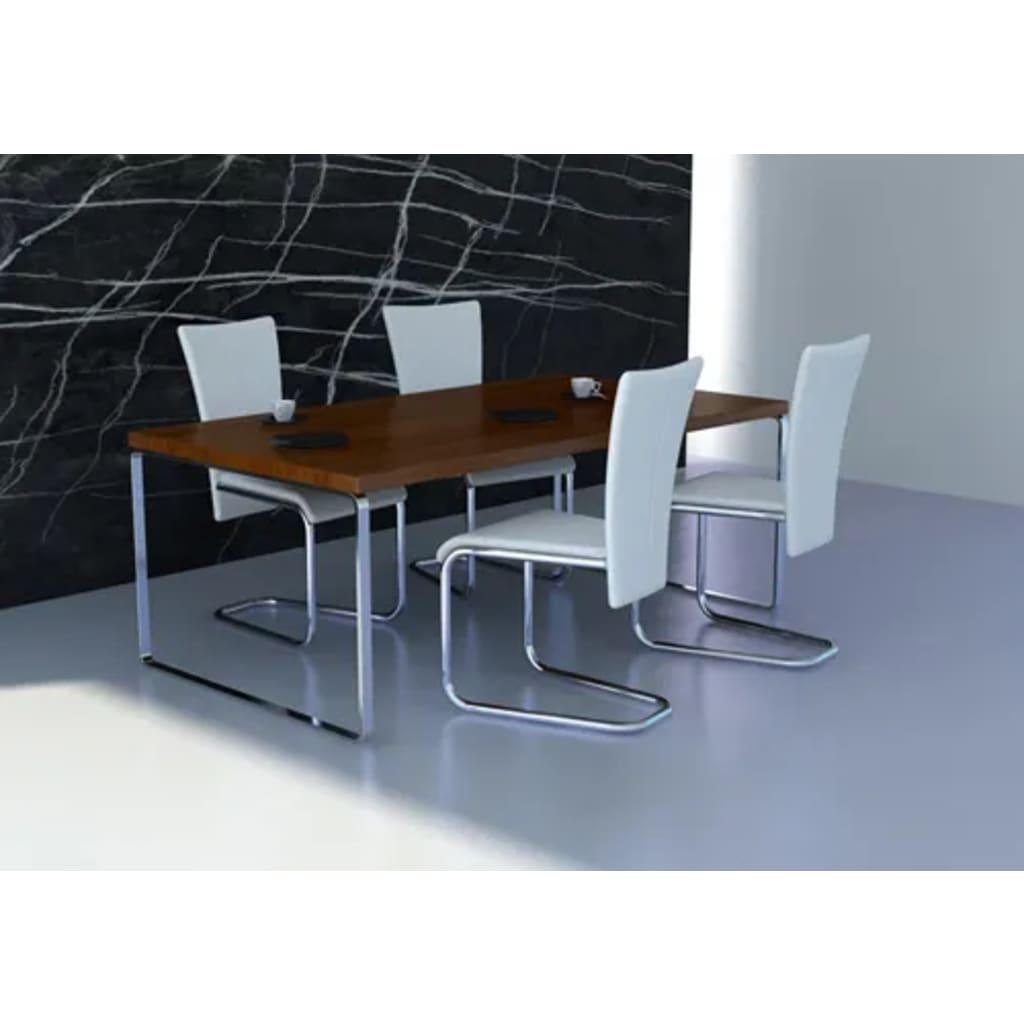 Sada 4 jídelních židlí bílých