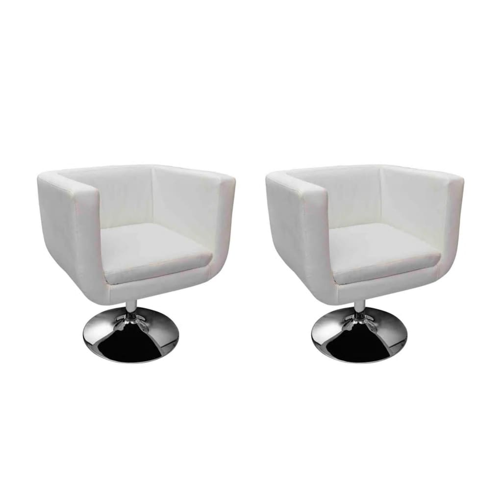vidaXL Cube Chair White x2