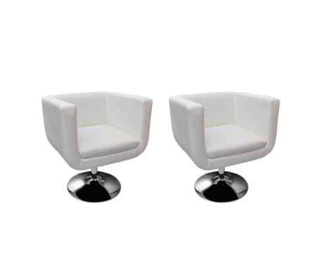vidaXL Barski stoli 2 kosa belo umetno usnje