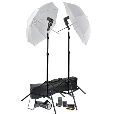 Portable Speedlight Set Tripods Umbrellas Trigger & Receiver Lights[1/6]
