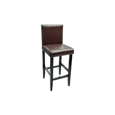 vidaXL Baro kėdės, 2 vnt., dirbtinė oda, rudos[3/5]