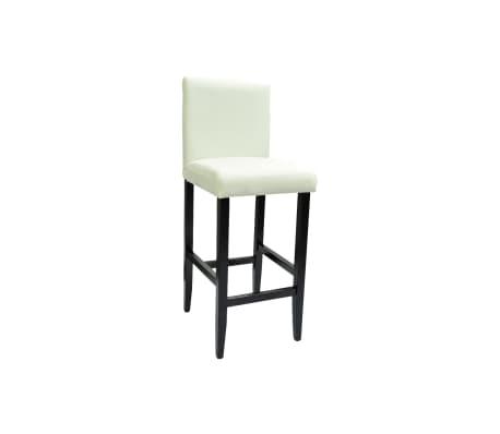 vidaxl barhocker 2 stk kunstleder wei g nstig kaufen. Black Bedroom Furniture Sets. Home Design Ideas