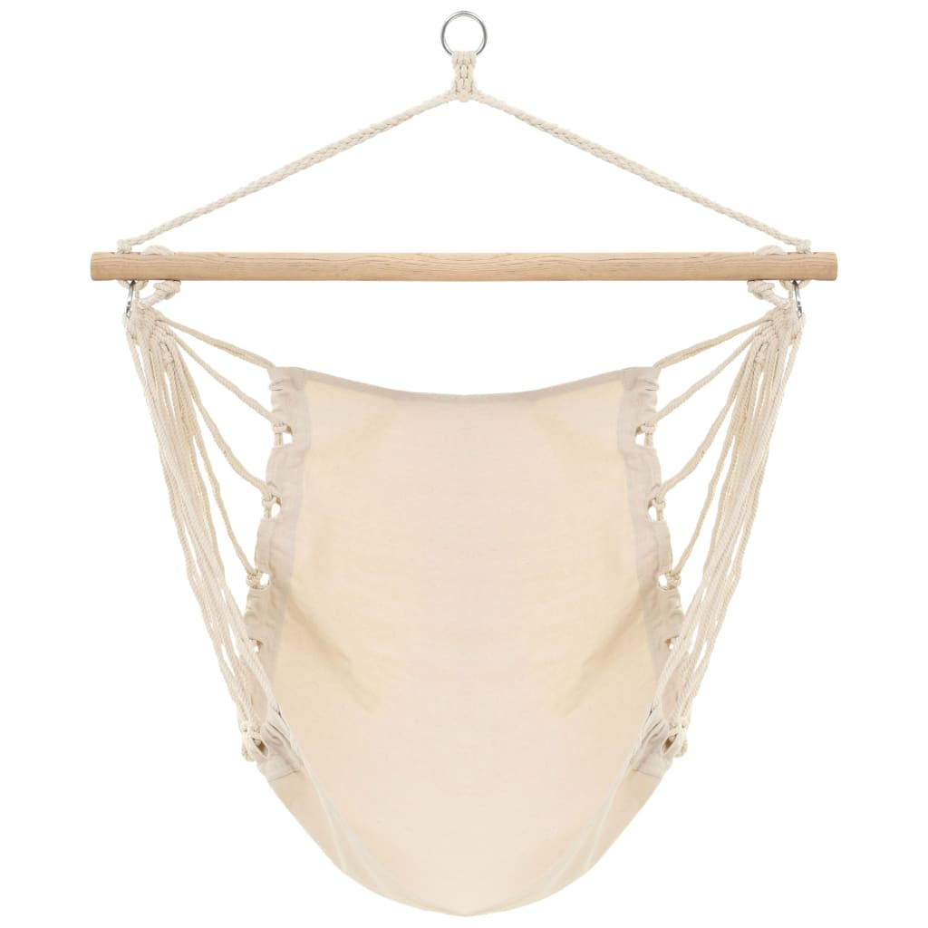 vidaXL Hangstoel creme wit (large)