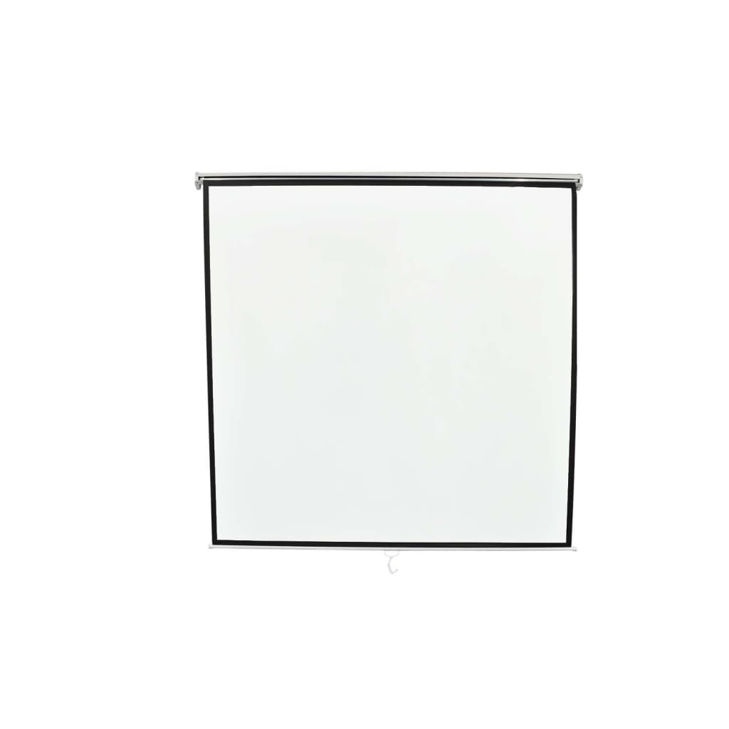 vidaXL Χειροκίνητη Οθόνη Προβολής 200 x 200 εκ. Λευκή Ματ Επιτοίχια