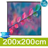 vidaXL Manual Projection Screen 200x200 Mat White
