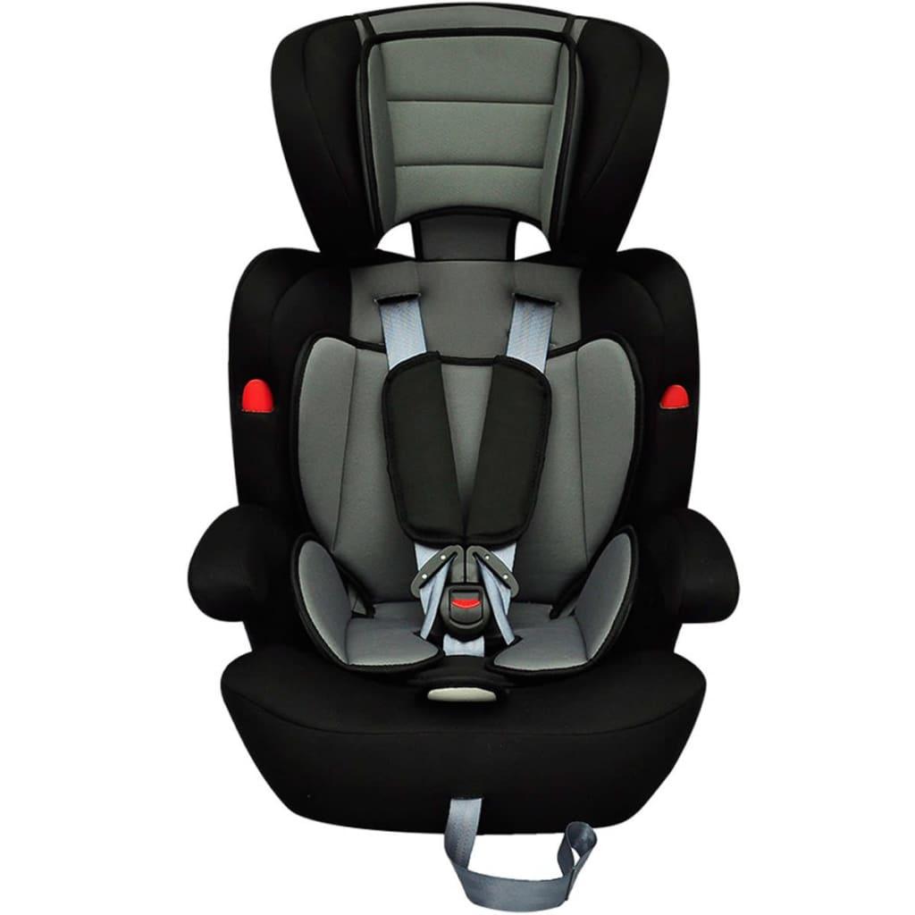 Scaun auto pentru copii grupa I II III 9-36 kg gri-negru poza vidaxl.ro