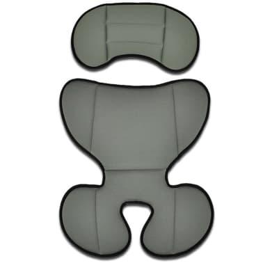 vidaXL Bilbarnstol med säkerhetsbälte grå/svart[5/6]