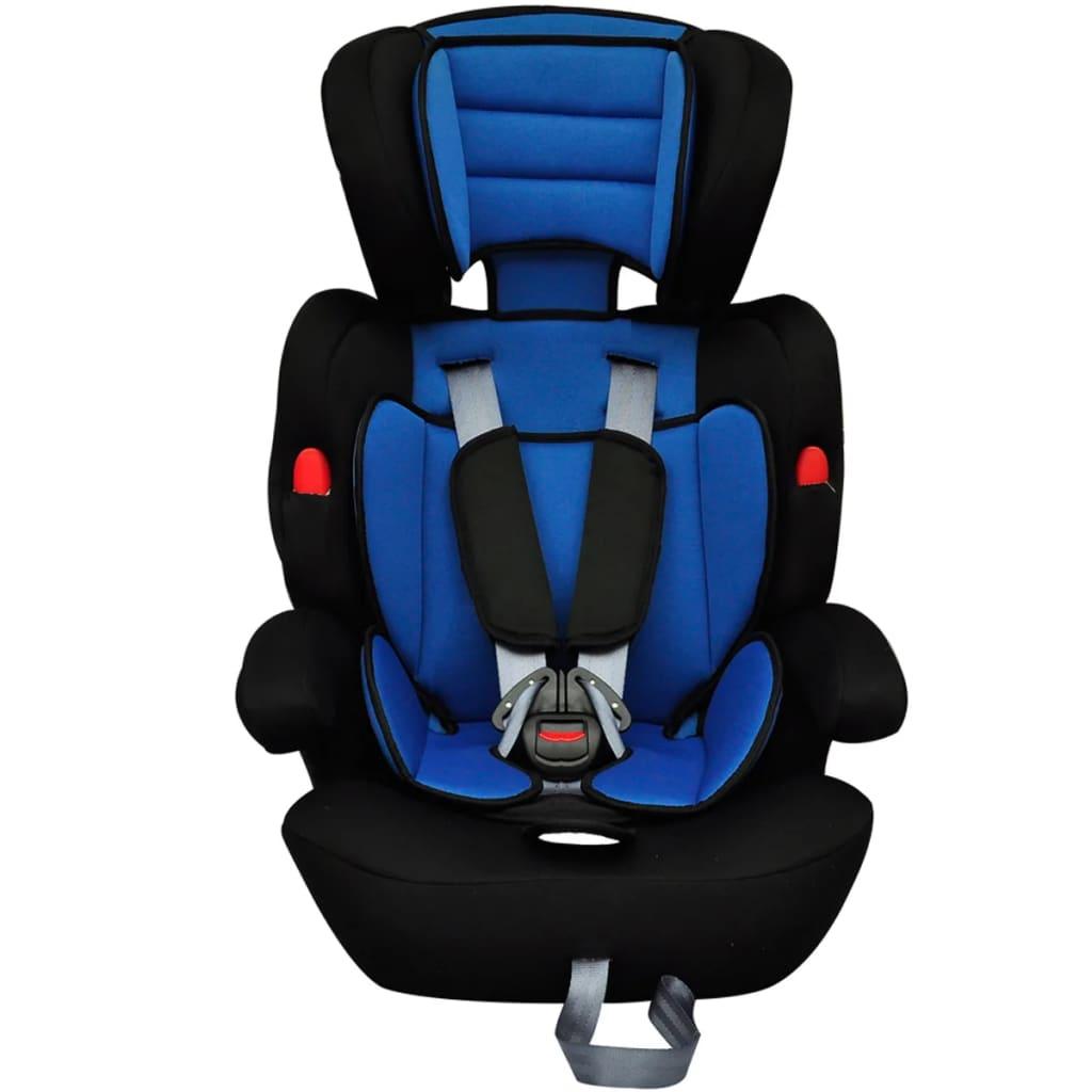 Autostoeltje voor kinderen blauw-zwart