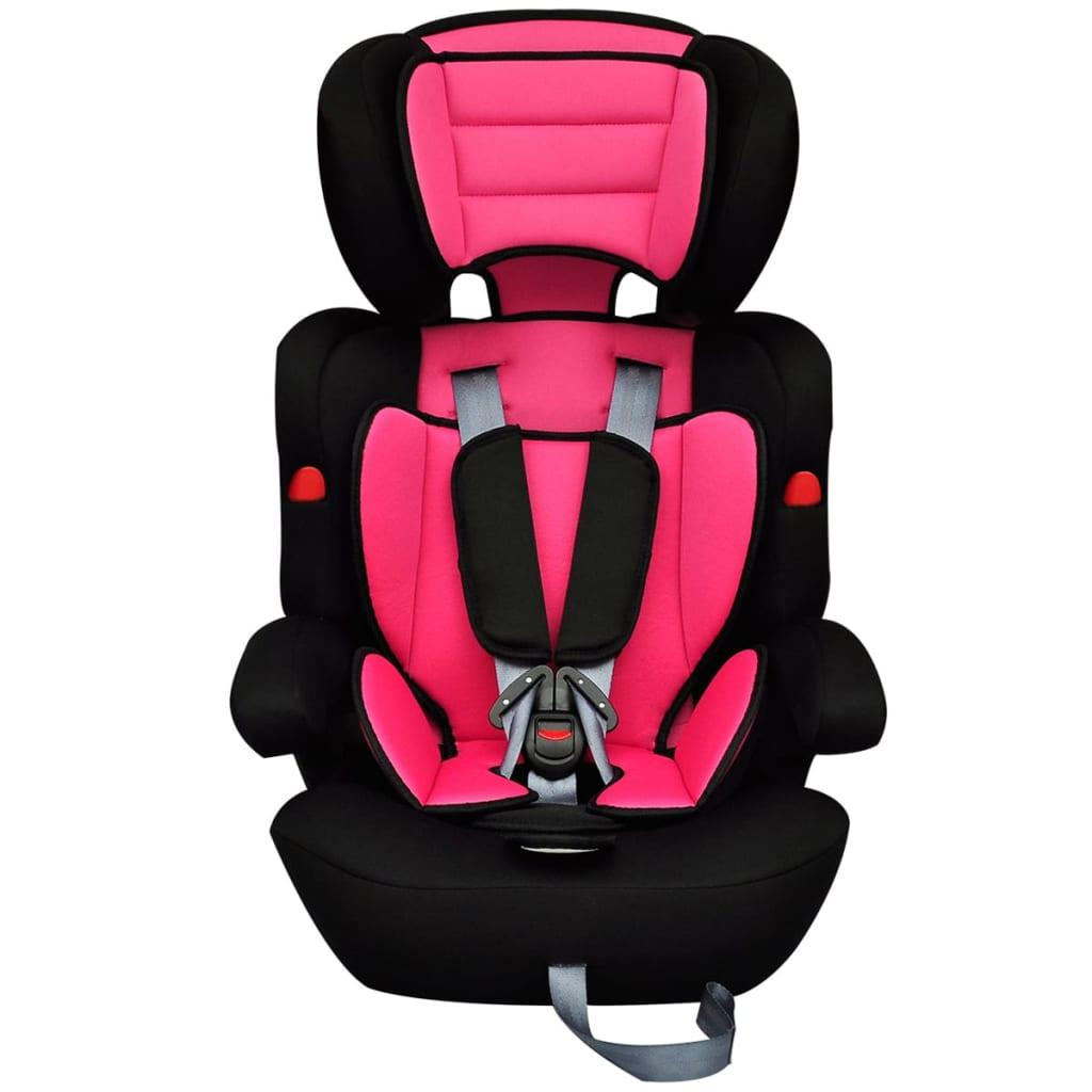 Scaun auto pentru copii grupa I II III 9-36 kg roz-negru imagine vidaxl.ro