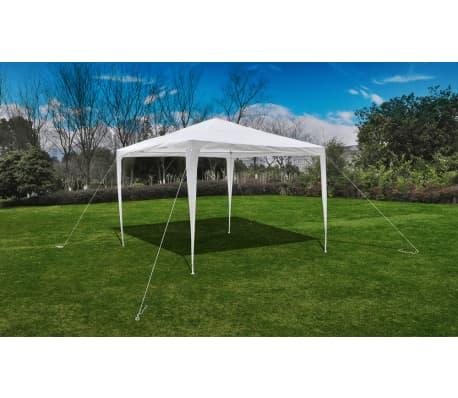 acheter vidaxl tonnelle pavillon de jardin blanc 3x3m pas cher. Black Bedroom Furniture Sets. Home Design Ideas