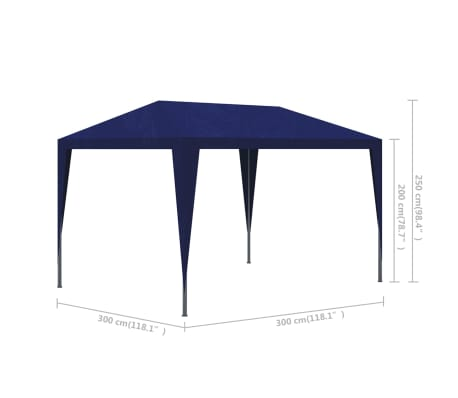 vidaXL 10' x 10' Blue Party Tent[4/4]