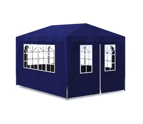 vidaXL 10' x 13' Blue Party Tent with 4 Walls[2/7]