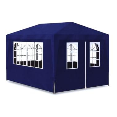 vidaXL Carpa de fiesta 3x4 con 4 paredes azul[2/7]