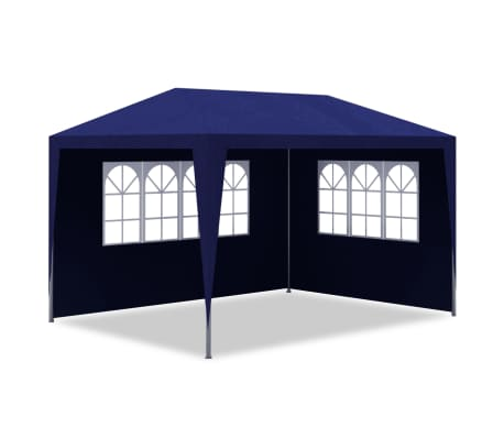 vidaXL 10' x 13' Blue Party Tent with 4 Walls[3/7]