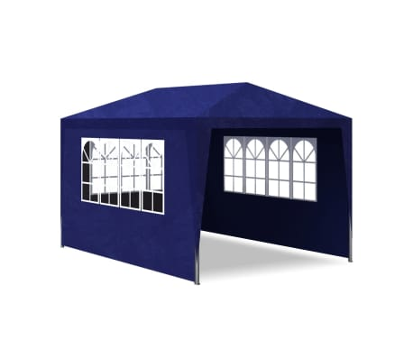 vidaXL 10' x 13' Blue Party Tent with 4 Walls[4/7]