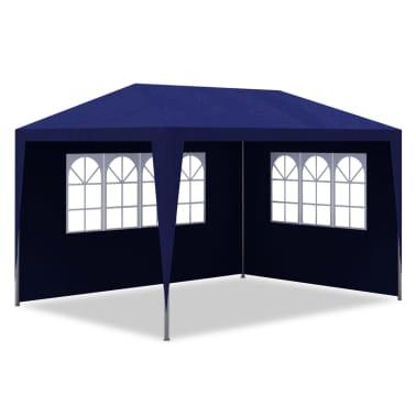 vidaXL Tente de réception 3 x 4 m Bleu[3/7]