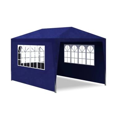 vidaXL Carpa de fiesta 3x4 con 4 paredes azul[4/7]