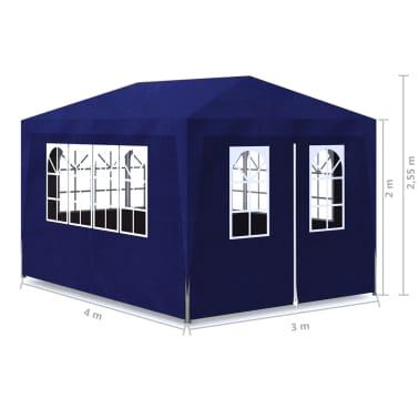 vidaXL Tente de réception 3 x 4 m Bleu[7/7]