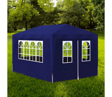 vidaXL 10' x 13' Blue Party Tent with 4 Walls[1/7]