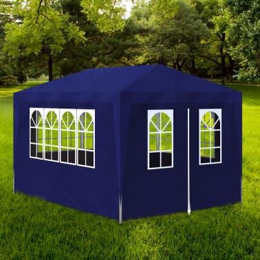 vidaXL Tente de réception 3 x 4 m Bleu[1/7]