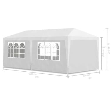 vidaXL Party Tent 3x6 m White[6/6]