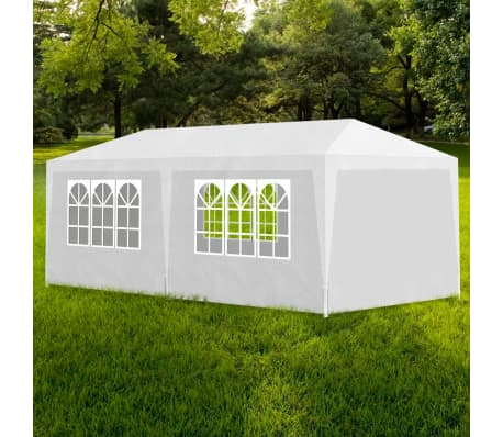 vidaXL 10\' x 20\' White Party Tent with 6 Walls | vidaXL.com