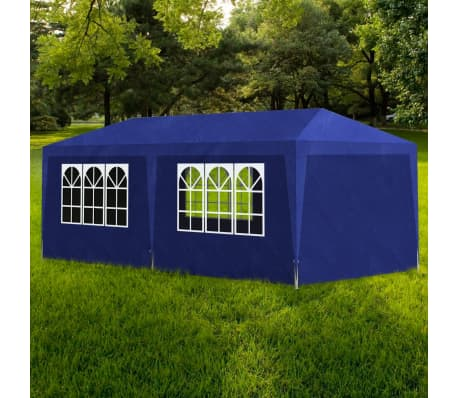 vidaXL Tente de réception 3 x 6 m Bleu[1/6]